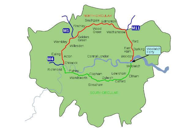 London North South Circulars